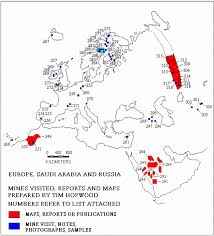 map of europe russia middle east european middle eastern and russian mines