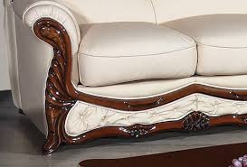 Leather And Wood Sofa Classic Furniture
