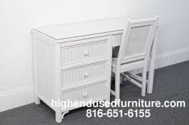 White Wicker Desk by Lexington Furniture Henry Link White Wicker 46 Desk W Chair