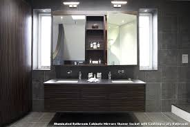 Contemporary Bathroom Cabinets - illuminated bathroom cabinets mirrors shaver socket with