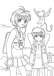 sakura friend coloring pages kids printable free
