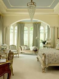 bedroom prestigious crystal chandelier illuminating modern
