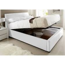 White Ottoman Bed by New Kaydian Allendale Upholstered Ottoman Storage Bed Oatmeal