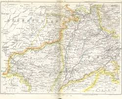 Frontier Route Map by Historical Maps Of India