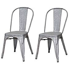 Galvanized Bistro Chair Monarch Galvanized Metal 2 Cafe Chair 33 Inch
