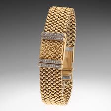 rolex bracelet diamonds images Ladies 39 18k gold and diamond vintage rolex precision watch jpg