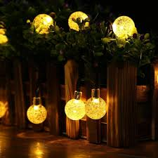 primium solar string lights waterproof outdoor globe lights 20ft