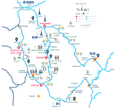 Map Of Burgundy France by H2olidays Destinations On The Canals And Waterways Of France And