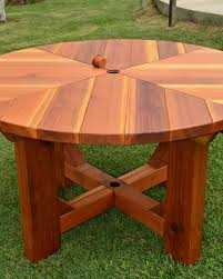 Lazy Susan For Outdoor Patio Table by The Sunset Patio Table Built To Last Decades Forever Redwood
