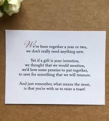 Wedding Gift Money Poem Wedding Poem Card Inserts Wedding Invitations Money Cash Gift