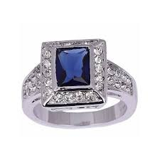 model cincin blue safir cincin pria ring 8 cz sapphire 10k wgf