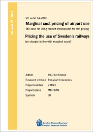 Marginal Costs Jan Eric Nilsson