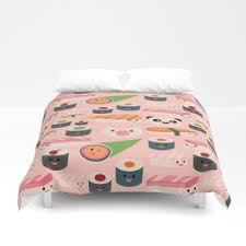 kawaii sushi duvet covers society6