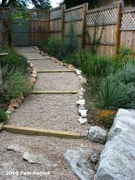 Gravel Backyard Ideas Hillside Gravel And Timber Path Done Diggingdigging