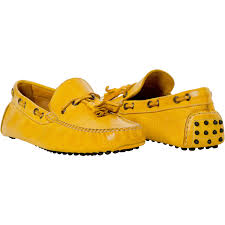 Yellow Mustard Color Blake Mustard Yellow Rubber Pebble Drivers Loafers Paolo Shoes