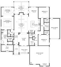 craftsman style house plan 3 beds 2 5 baths 2300 sq ft plan 932