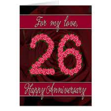26th wedding anniversary 26th wedding anniversary cards greeting photo cards zazzle