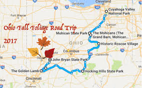 2017 fall foliage road trip ohio