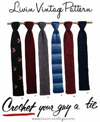 free pattern for crochet necktie dancox for