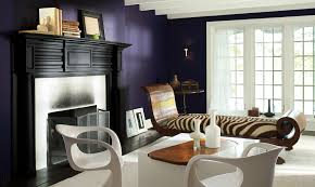 Home Trends 2017 Decorations Wonderful Dark Blue Retro Modern Living Room With