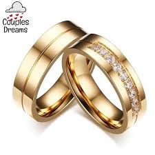 couple rings set images Gold cubic zircon couple rings set couples dreams jpg