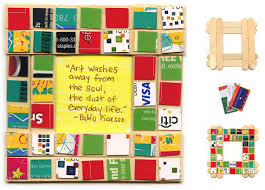 art projects for kids recycled mosaic picture frame could use