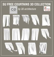 sketchup texture free sketchup 3d models curtains collection 6