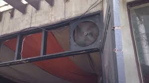 restaurant kitchen exhaust fans industrial commercial exhaust fans in a restaurant and a wall fan