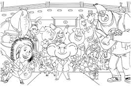 sing movie characters coloring free printable coloring pages