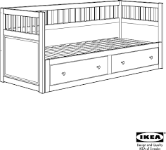 download ikea hemnes daybed w 2 drawers assembly instruction for