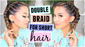 how to double dutch french braid for short hair hairstyle youtube