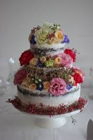 semi wedding cake by https m facebook com