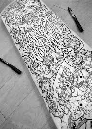 drawn skateboard doodle pencil and in color drawn skateboard doodle