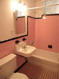 pink tile bathroom decorating ideas fascinating retro bathroom