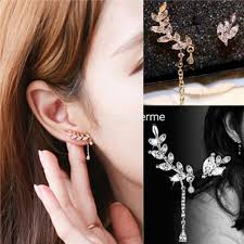 clip on earrings malaysia asymmetric leaf ear clip chain drop end 7 19 2018 4 15 pm