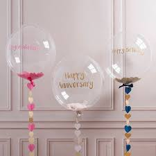 personalised heart confetti bubble balloon by bubblegum balloons