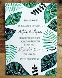 tropical wedding invitations lola s painted tropical wedding invitations