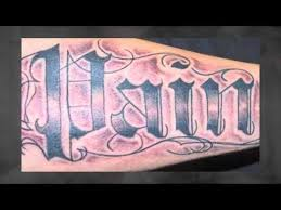 old english lettering tattoos youtube