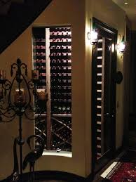 interior awesome design ideas of under staircase wine rack with