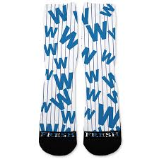 Flying Flag Cubs Flying W Flag Custom Athletic Fresh Socks U2013 Fresh Elites