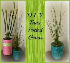 diy faux potted grass spring decoration satisfaction through christ