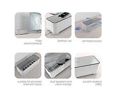under sink storage tidy amazon co uk kitchen home the ebox long cable tidy box extension wire charger storage