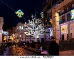 salerno italy december 2 lights stock photo 768304267