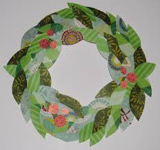 paper wreath craft laura williams
