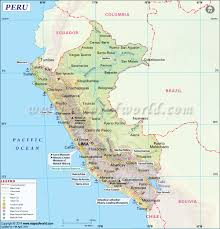 Blank Map Of World Physical by Peru Map Map Of Peru