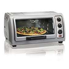 Toaster Ovens Rated Amazon Com Hamilton Beach Countertop Toaster Oven Easy Reach With