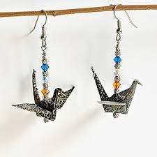 origami earrings vicki bolen paper artist