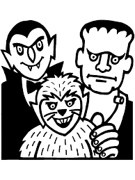 halloween coloring page monsters halloween coloring and holidays