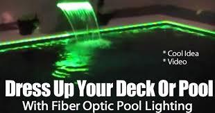 lighting around pool deck fiber optic pool lighting cool technique to light your pool