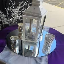 lantern centerpiece purple silver mirror lantern centerpiece montana event rental